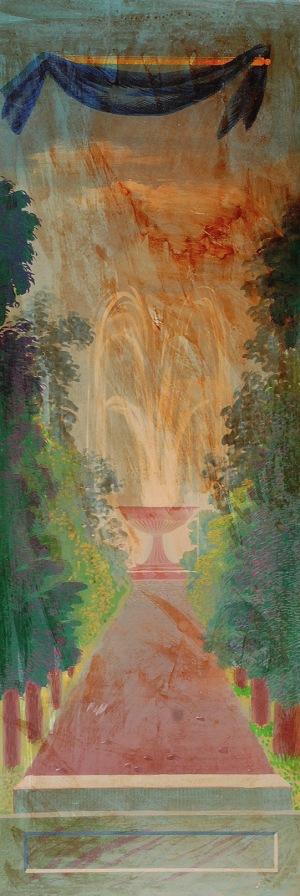 Tadeusz GRONOWSKI (1894-1990), Projekt panelu - fontanna