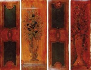 Tadeusz GRONOWSKI (1894-1990), Zestaw 4 projektów dekoracji ściennej