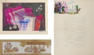 Tadeusz GRONOWSKI (1894-1990), Zestaw 3 prac