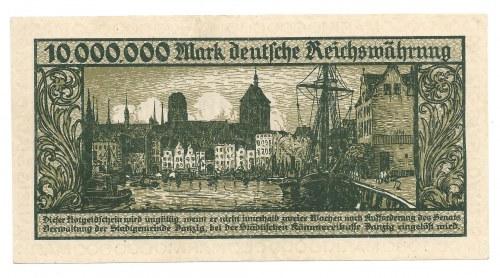 Gdańsk - Danzig - 10 000 000 marek 1923 - ilustrowany w katalogu Czesława Miłczaka