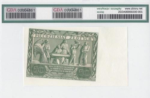 50 złotych 1936 - AB - niedokończony druk