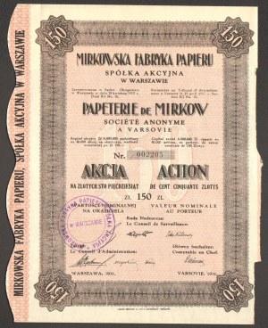 Mirkowska Fabryka Papieru - 150 złotych 1931 -