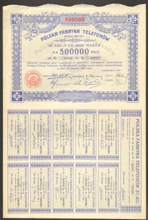 Polska Fabryka Telefonów - 50 x 1000 mkp 1923 -