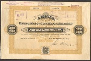 Bank Małopolski - 400 koron/280 mp 1919 -