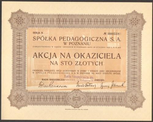Spółka Pedagogiczna w Poznaniu - 100 złotych -
