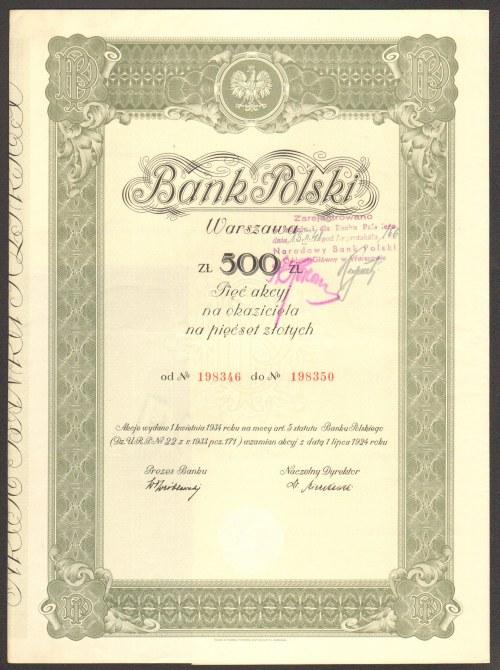 Bank Polski - 500 złotych 1924 -