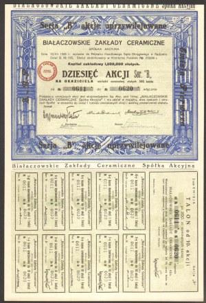 Białaczowskie Zakłady Ceramiczne - 10 x 300 złotych 1929