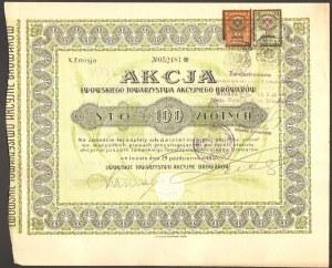 Lwowskie Towarzystwo Akcyjne Browarów - 100 złotych 1928 -