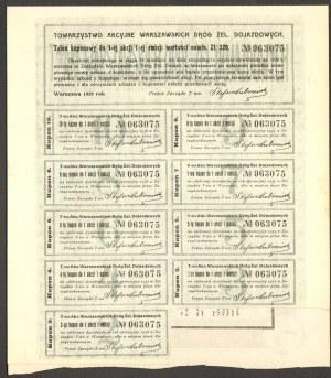 Towarzystwo Akcyjne Warszawskich Dróg Dojazdowych - 320 złotych 1929 -