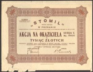 STOMIL Spółka Akcyjna w Poznaniu - 100 złotych - Emisja III - niski nr 000192