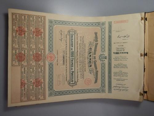 250 sztuk - Kasyno w Cannes - księga 250 sztuk 1000 franków 1930 - RZADKOŚĆ