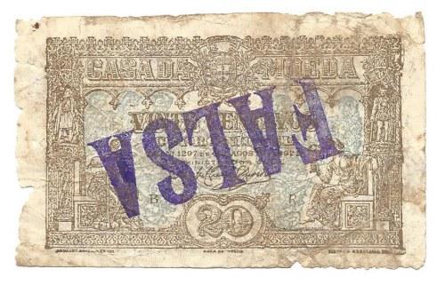 Portugalia - FALSA - 20 centavos 1922 - Falsyfikat