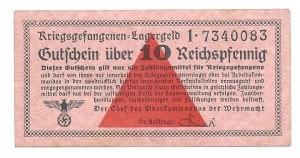 Kriegsgefangen Lagergeld - Oberkommando der Wehrmacht -10 fenigów - ilustrowany w katalogu LUCOW