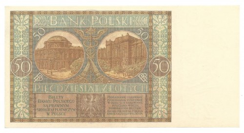 50 złotych 1929 - Ser. B.E. - rzadsza seria -