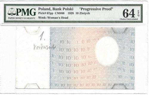 10 złotych 1928 - PMG 64 EPQ