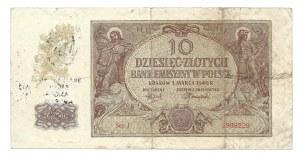 10 złotych 1940 - stempel - BRATERSTWO BRONI ANGLII AMERYKI POLSKI... - ilustrowany w LUCOW