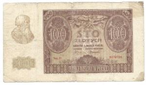"""100 złotych 1940 - A.-K. / Reguła"""" / Pierwszy żołd / powstańczy / SIERPIEŃ 1944 R."""