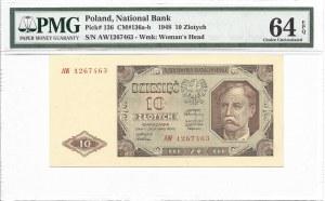 10 złotych 1948 - AW - PMG 64 EPQ