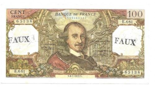 FRANCJA - 100 franków 1972 - FAUX
