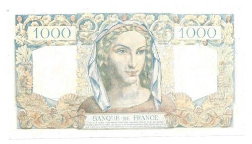 FRANCJA - 1000 franków 1946 - FALSYFIKAT - FAUX ANNULE