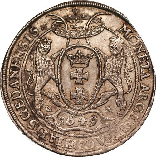 Jan II Kazimierz - talar 1649 - Gdańsk - odmiana z dużą głową króla -
