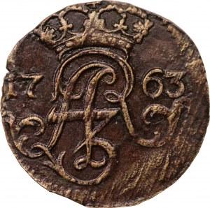 August III - szeląg 1763 - Elbląg - ICS