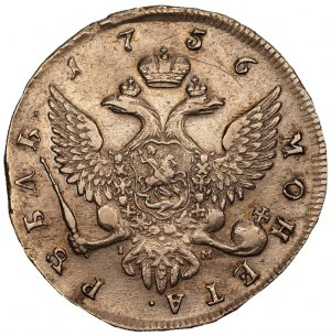 Rosja - rubel 1756 СПБ - IM - Petersburg