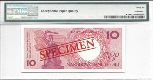 10 złotych 1990 - A - WZÓR / SPECIMEN - PMG 66 EPQ