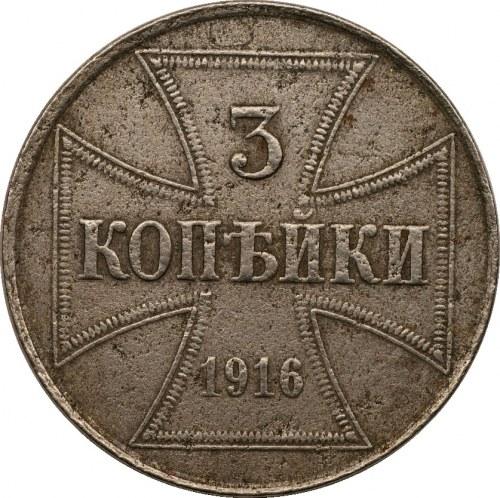 Ober-Ost. 3 kopiejki 1916 - J - Hamburg
