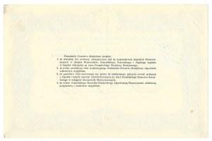 List zastawny Poznańskiego Ziemstwa Kredytowego - 500 złotych 1925 -