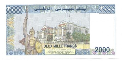 Djibouti - 2000 francs ( 1997 ) B.001