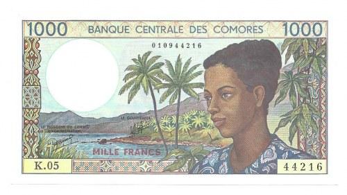 Komory - 1000 franków ( 1994 ) K.05
