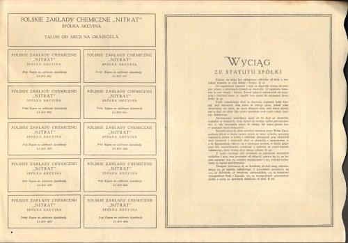 Polskie Zakłady Chemiczne NITRAT - 5 x 500 marek 1921 - Emisja I