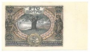 100 złotych 1934 - WZÓR - BEZ WARTOSCI - fałszywy nadruk -