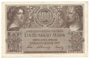 Kowno - 100 marek 1918 -