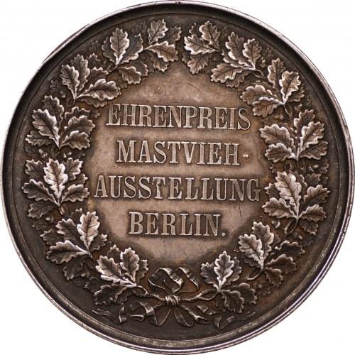 NIEMCY - medal za hodowlę bydła Berlin - sygnowany G. LOOS