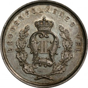 Norwegia - medal dla norewskiego rolnictwa 1877 - sygnowany G. LOOS