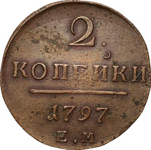 ROSJA - 2 kopiejki 1797 EM - Jekaterynburg