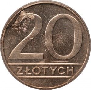 DESTRUKT - 20 złotych 1990 - PCGS MS65