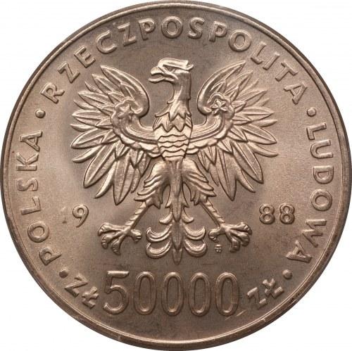 50 000 złotych 1988 - Józef Piłsudski - PCGS MS67