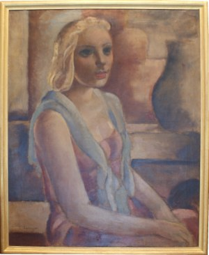 Zygmunt Szpingier - Paryżanka - 1928 - olej na płótnie - sygnowany