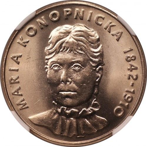 Maria Konopnicka - 20 złotych 1978 - NGC MS66