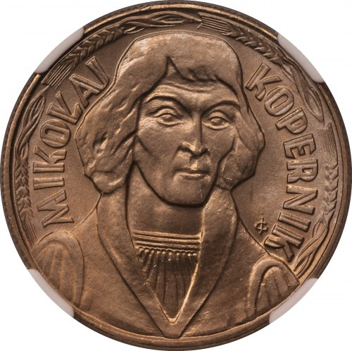 Mikołaj Kopernik - 10 złotych 1969 - NGC MS67 - najwyższa nota w NGC