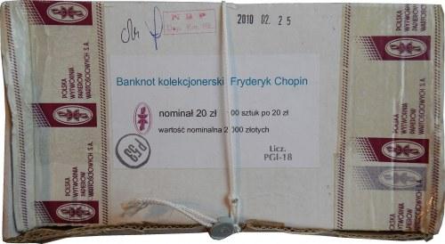 Pudełko bankowe nr 2 - numeracja od 0000101 do 0000200 - 20 złotych 2009 - Fryderyk Chopin
