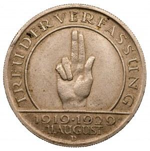 Niemcy - 5 marek 1929 - D - Przysięga Weimarska