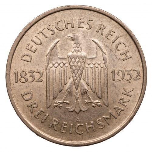 NIEMCY - 3 marki 1932 - A - GOETHE