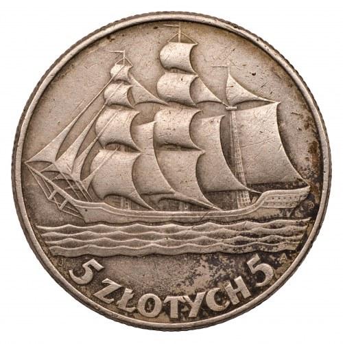 5 złotych 1936 - Żaglowiec