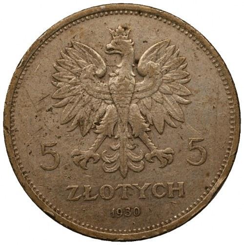 5 złotych 1930 - Sztandar