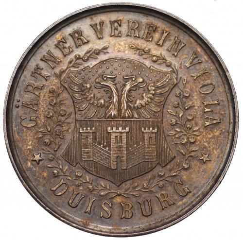 Medal - Niemcy - Duisburg - wystawa ogrodnicza 1895