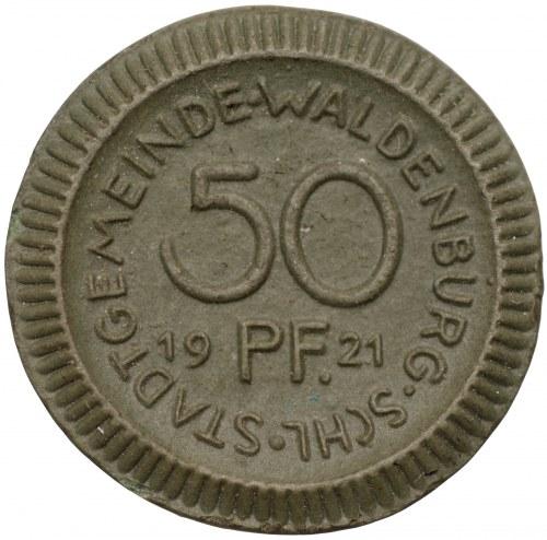 Niemcy - Wałbrzych - 50 fenigów 1921 - zielona porcelana